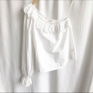 Joie Arianthe white blouse off shoulder top